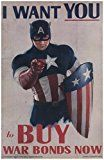 #10: Captain America War Bonds Poster I WANT YOU to Buy War Bonds Now 11 x 17 Litho http://ift.tt/2cmJ2tB https://youtu.be/3A2NV6jAuzc