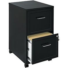 Check out this Two Drawer Filing Cabinet Black Storage Vertical Mobile Steel File Lock Work in Home & Garden, Furniture, Desks & Home Office Furniture Rolling File Cabinet, 2 Drawer File Cabinet, Mobile File Cabinet, Rolling Storage, Drawer Fronts, Hanging File Folders, Hanging Files, Home Office Furniture, Furniture Stores