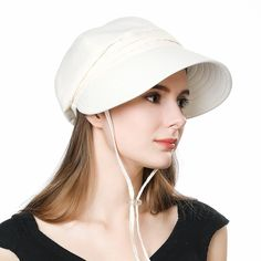 aabe972e5c4 Siggi Summer Bill Flap Cap SPF 50 Cotton Sun Golf Hat with Neck Cover Cord  Crushable
