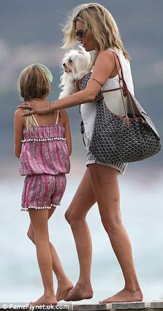 Kate Moss and Lila Grace in St. Tropez 2012.