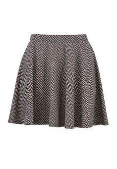 Herringbone Skater Skirt (original price, $32) available at #Maurices