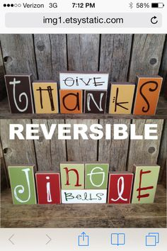 totally making this. only it will say give thanks and the other side will say something else other than jingle bells.. i just don't know what yet :)