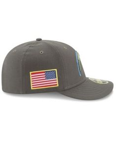 New Era Los Angeles Chargers Salute To Service Low Profile 59FIFTY Fitted Cap - Green 7 1/2