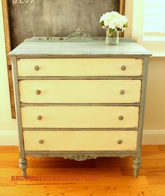 dresser redo. I like the two color look.
