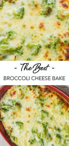 Broccoli Cheese Bake the creamiest and cheesiest Broccoli Side Dish you will ever eat. Everyone will ask for seconds. This baked broccoli is perfect for vegetarians! Take this to your next potluck. Broccoli Cheese Casserole Easy, Vegetable Casserole, Broccoli And Cheese, Casserole Recipes, Chicken Broccoli Bake, Healthy Vegetable Recipes, Vegetarian Recipes, Cooking Recipes, Budget Recipes