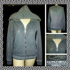 ECKO RED super duper SOFT  LUSH zip HOODIE jacket SUPER SLEEK & SUPER SEXXXY lil plush velour zip hoodie this is from the designer label of ECKO RED...ITS A SIZE-SMALL in JR/MISSES and its in EXCELLENT pre-luved condition ECKO RED Tops Sweatshirts & Hoodies