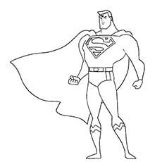 superhero coloring pages superman