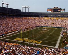 Lambeau Field, Green Bay, Wisconsin  Home of the Frozen Tundra and the greatest team ever, the Green Bay Packers  :)  Proud Cheesehead <3