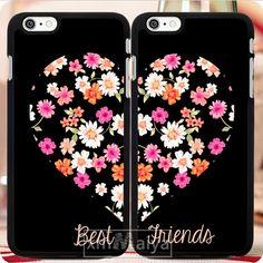2 pçs/lote BFF dos melhores amigos coração par móveis phone cases acessórios…