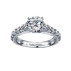 Justice Wedding Collection Prong Set Diamond Engagement Ring #justicejewelers #trueromance