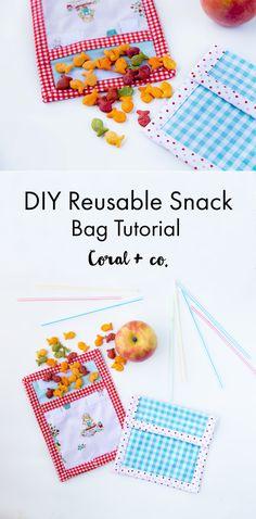 DIY Reusable Snack Bag Tutorial & Happy Earth Day! — Coral & Co.Coral & Co.