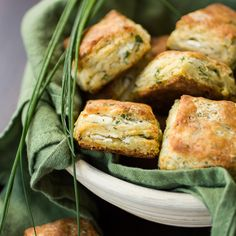 Flaky Goat Cheese Chive Biscuits Recipe Breads with all-purpose flour, baking powder, baking soda, fine sea salt, freshly ground pepper, grated parmesan cheese, unsalted butter, chives, fresh chevre, buttermilk