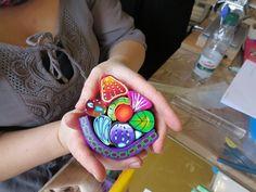 Building a Master Cane nach Carol Simmons Fimo Polymer Clay, Polymer Clay Miniatures, Polymer Clay Projects, Polymer Clay Creations, Polymer Clay Beads, Clay Crafts, Clay Clay, Cane Fimo, Metal Clay Jewelry