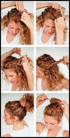 Wedding Hairstyles Elegant Make Up is part of Chic Wedding Hair Updos For Elegant Brides brazilian jerry curl hair unice - Curly Hair Braids, Curly Hair Tips, Curly Hair Braid Styles, Style Curly Hair, Curly Updos For Medium Hair, Natural Curly Hairstyles, Easy Curly Updo, Short Curly Updo, Curly Girl