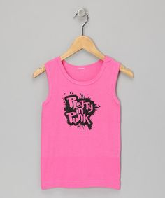 Take a look at this Raspberry 'Pretty in Punk' Tank - Toddler & Girls by Micro Me on #zulily today!