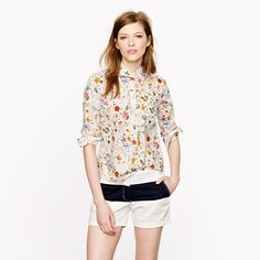 How did I miss this?  I saw someone wearing this very shirt last night and I loved it.    J.Crew - Liberty popover in floral eve