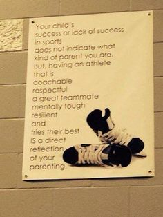 Good reminder for parents. Let your kids love the game.