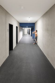 GMP Architekten's ballet facility features materials that reference its industrial setting.