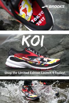 Strength in Every Stride| Koi Tokyo Launch 4 | From Brooks Running Koi fish are known for their ability to swim against strong currents, even fighting their way upstream. This #TokyoLaunch4 design is dedicated to everyone working their hardest to beat the odds.