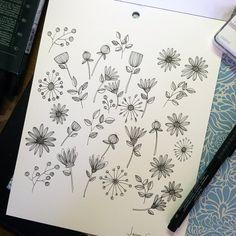 Last nights doodles #art #draw #doodle #daisies #doodles #drawing #doodleaday #cute #craftsposure #cylcollective #black #branch #blackandwhite #funky #floral #flower #fineart #flowers #funkyart #fabercastell #ink #instaart #instaartist #illustration #illustrations #jennasaundersart #leaves #monochromatic #makersmovement #nature #pen #retro #retroart #retrodesign #retroflowers #sketch