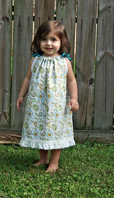 Great pillowcase dress tutorial with useful links to YouTube videos and pattern sources.