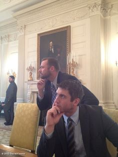 Freese and Westy doin' the Lincoln at the White House.