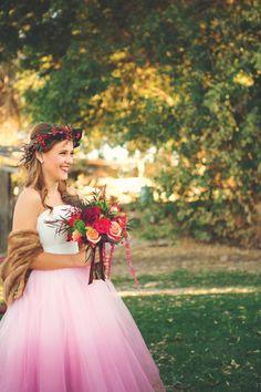 ombre wedding dress #wedding #wed #ido