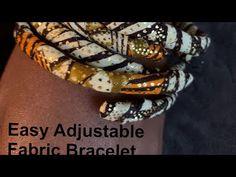 Create adjustable fabric bracelet #7 - YouTube Diy Jewelry Videos, Fabric Bracelets, Work Gifts, Originals, Tutorials, Create, Youtube, Art, Art Background