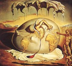 Salvador Dali - Geopoliticus Child Watching the Birth of the New Man, 1943: