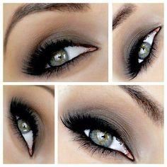 Taupey gray smokey eye