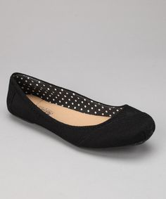 Take a look at this Black Corduroy Ballet Flat by Shoes of Soul on #zulily today!