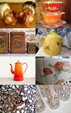 Vintage Autumn Kitchenware by  Christen from ReduxRefinds      --Pinned with TreasuryPin.com