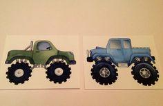 Monster trucks boys nursery art, kids children room wall art, transportation art prints on Etsy, $12.00