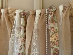 Fabric Wedding Garland Photo Booth Backdrop by UniqueWedBoutique, $64.00