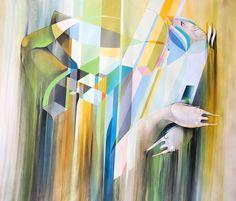 Labirinto de uma tarde silenciosa - Spray on canvas 156 x 192 cm   2012