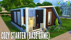 THE SIMS 4 SPEED BUILD #126   COZY STARTER BASE GAME
