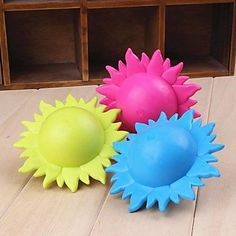 QINF Lovely Sunflower Shaped Rubber Chew Toys for Dogs(Random Colour) *** Visit the image link more details. (This is an affiliate link and I receive a commission for the sales) Dog Chew Toys, Dog Toys, Toy Bulldog, French Bulldog, Dog Lovers, Image Link, Shapes, Colour, Amazon