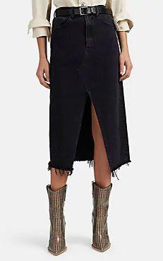 3 x 1 Elizabella Denim langer Rock Black Denim Midi Skirt, Demin Skirt, Stretch Denim Skirt, Denim Skirt Outfits, Leather Midi Skirt, Winter Skirt Outfit, Skirt Fashion, Casual, Skirts