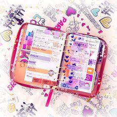 Week 17: #katespadeplanner #katespadeagenda #katespade #colorful #purple #filofax #stationery #kawaii #organizer