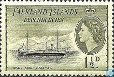 Falkland Islands - Dependencies - Ships 1954