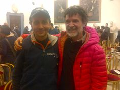Il grandissimo Giorgio Calcaterra, campione del Mondo 100km, con Claudio Santini (Consulente tecnico #Running Angolo dello Sport)  #RomaOstia