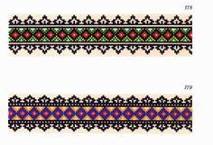 Embroidery designs from the Rusyn village of Čertižné - Чертіжне, Slovakia - ruchniks