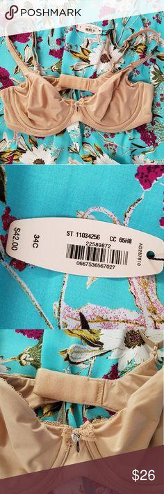 :: VS 34C NWT - nude :: Brand new w tags, size 34C Victoria's Secret bra. Has underwire, not padded.  Double clasp, adjustable straps. Victoria's Secret Intimates & Sleepwear Bras