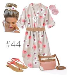 """""""#44 - 100 Dresses Spring/Summer 2014"""" by curvygirlamy ❤ liked on Polyvore featuring Old Navy, Apt. 9 and Prada"""