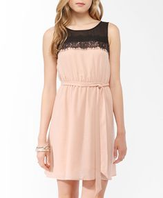Two-Tone Lace Trim Dress from Forever21.com