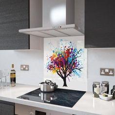 Glass Splashback - Printed Digital Images - Made To Measure Radiator Cover, Cooker Hoods, Splashback, Digital Image, Table Runners, Glass, Prints, Kitchen Ideas, Home Decor