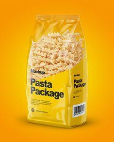 Fusilli Pasta Mockup – Half Side View