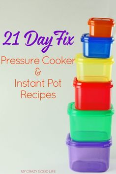 These 21 Day Fix pressure cooker recipes will shock you with their flavors and quick cook time! 21 Day Fix Instant Pot recipes are the easiest ones to make!