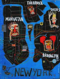 """New York, 2014"" by Sylvia Calmejane - Mixed media, plexiglass screwed on metallic frame 130 x 100 cm #NY #Street art"