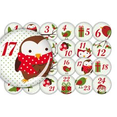 Adventskalender Buttons ♥ Advent mit Dotty (00PX)